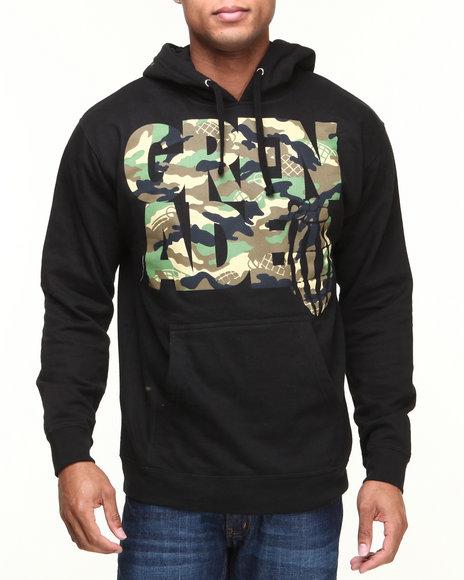 Grenade Black Stacked Camo Pullover Hoodie