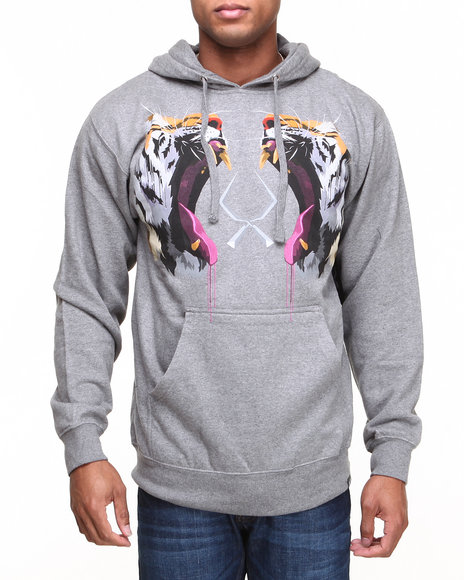ROOK Grey Tiger Tooth Hooded Sweatshirt