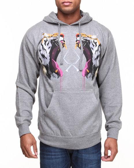 ROOK Grey Tiger Tooth Hooded Sweatshirt