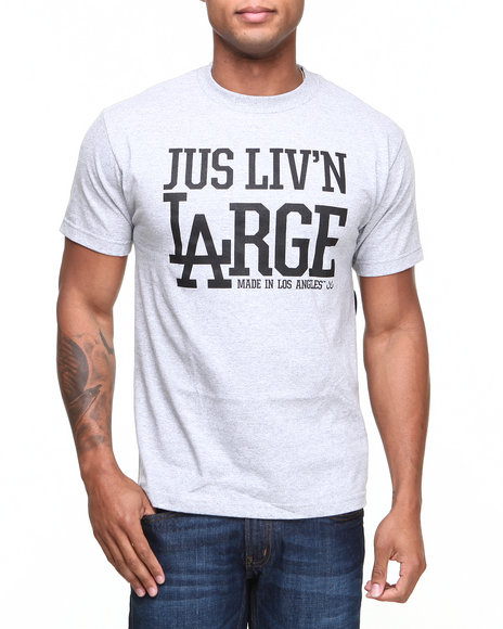 JSLV Grey Liv'n Large Tee