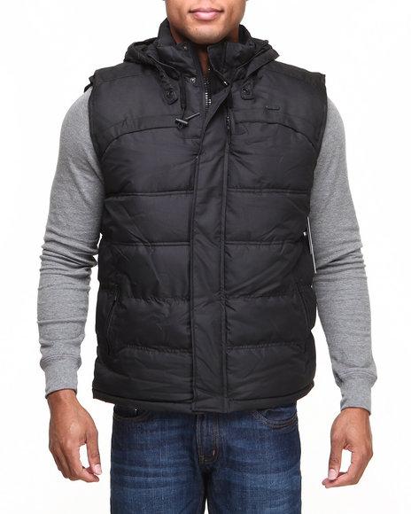 Rocawear - Men Black Puffer Vest