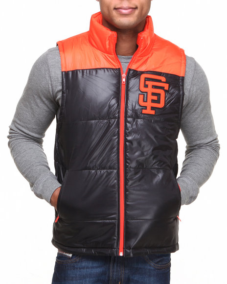 Mitchell & Ness - Men Black San Francisco Giants Mlb Winning Team Vest