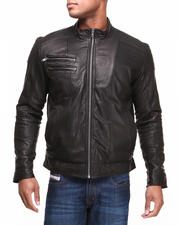 DRJ Leather Shoppe - Premium Genuine Leather Moto Jacket