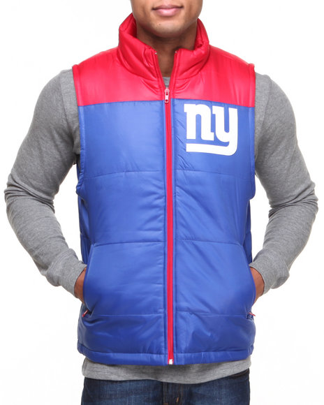 Mitchell & Ness - Men Blue New York Giants Nfl Winning Team Vest