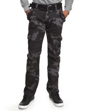 Jeans & Pants - Belted Washed Camo Cargo Pants