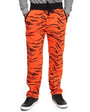 Men - Tiger Print Fleece Sweat Pants
