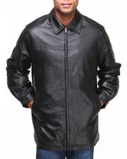 DRJ Leather Shoppe - Premium James Dean Genuine Leather Jacket with Zipout Plush Lining