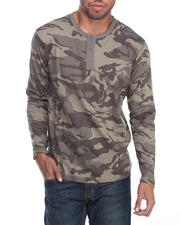 Long-Sleeve - All-Over Camo Henley L/S Shirt