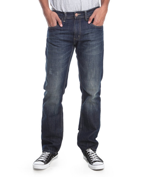 Akademiks - Men Dark Indigo Akademiks Prefered Denim Jeans