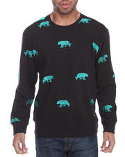Men - Tiger Embroidery Crewneck Sweatshirt