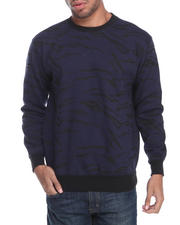 Sweatshirts & Sweaters - Tiger Print Fleece sweat shirt