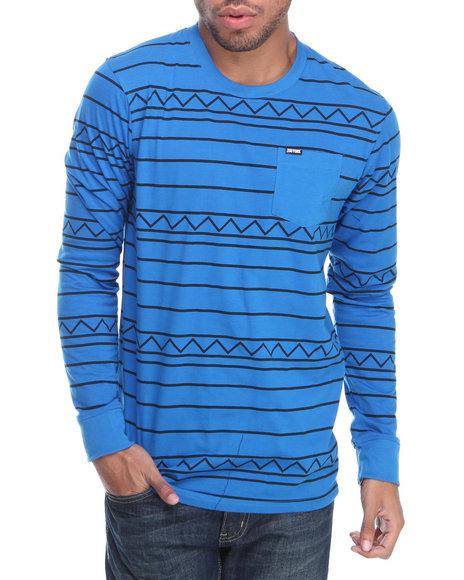 Zoo York Blue Aztec Feeder L/S Shirt