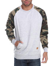 Men - Camo Sleeve Crewneck Sweatshirt