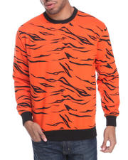 Men - Tiger Print Fleece sweat shirt
