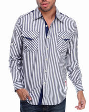 Men - Bristol Striped L/S Button Down Shirt