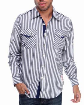 Akademiks - Bristol Striped L/S Button Down Shirt
