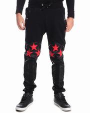 Men - American Flag Fleece Pants
