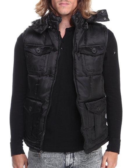 - Men Black Puffer Vest