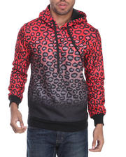 Men - Leopard Pullover Fleece Sweatshirt