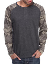 Men - Henley Camo L/S Shirt