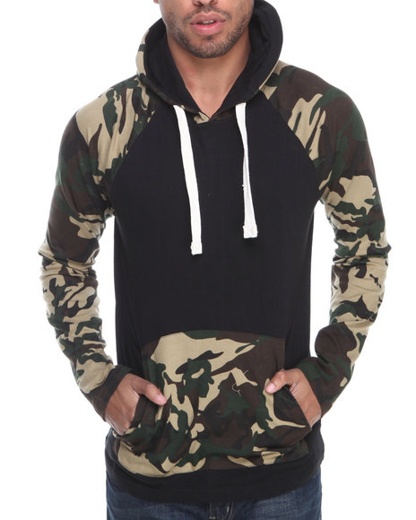 Buyers Picks - Men Camo Contrast Camo Pullover L/S Hoody