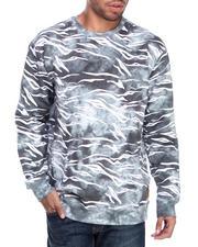Basic Essentials - Tie Dye Tiger Print Crewneck sweatshirt