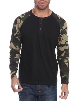 Buyers Picks - Henley Camo L/S Shirt