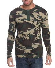 Buyers Picks - All-Over Camo Henley L/S Shirt