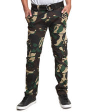 Jeans & Pants - All-Over Skull Camo Belted Cargo Pants