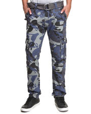 Men - All-Over Skull Camo Belted Cargo Pants