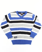 Boys - STRIPED V-NECK SWEATER (4-7)
