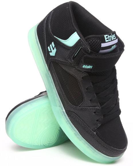 Etnies Black Number Mid Sneakers