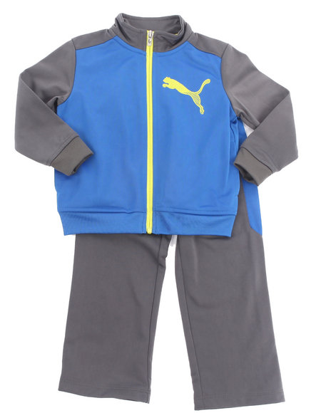 Puma Boys Blue Cat Color Block Tricot Set (2T-4T)