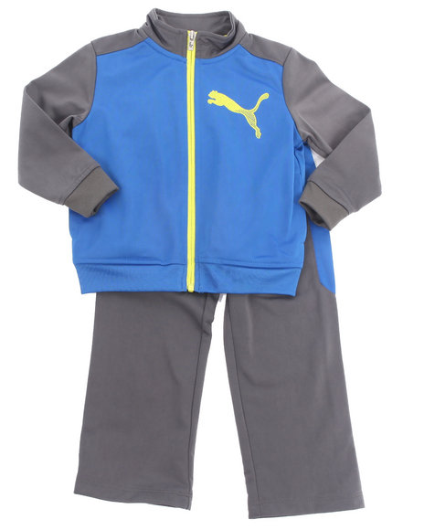 Puma Boys Blue Cat Color Block Tricot Set (4-7)