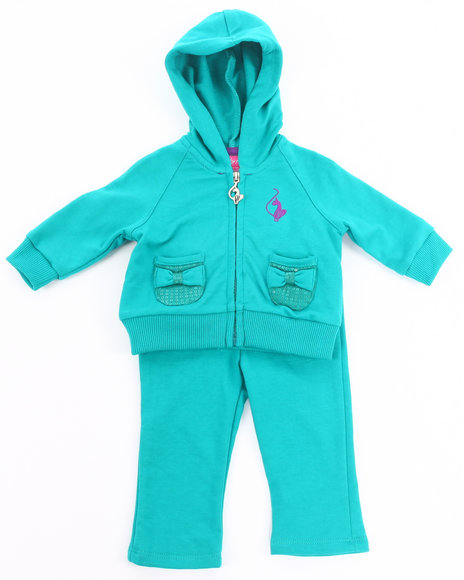 Baby Phat Girls Teal 2 Pc French Terry Set (Infant)