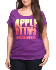 Apple Bottoms - Apple Core Gradient Stones Logo Tee (Plus)