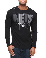 Men - Brooklyn Nets Vertical L/S Shirt