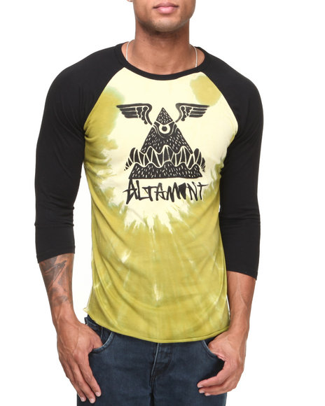 Altamont - Men Yellow Hura 3/4 Sleeve Raglan Tee