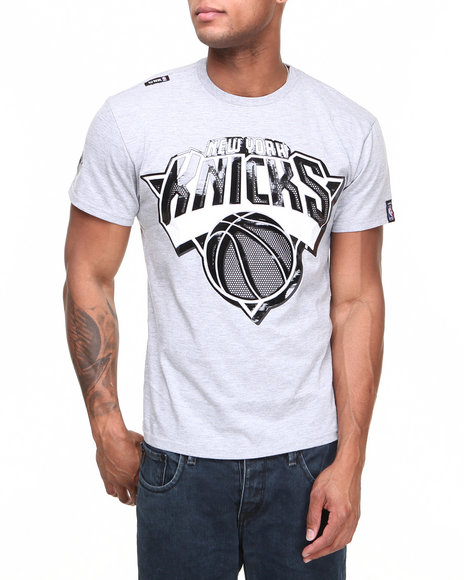 Nba, Mlb, Nfl Gear - Men Grey New York Knicks Primo Tee