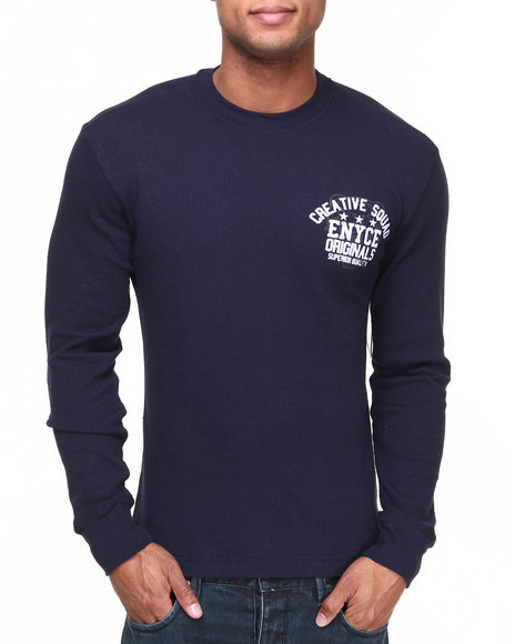 Enyce Navy Squad L/S Graphic Thermal