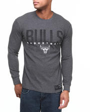 Men - Chicago Bulls Team Straight Up L/S Thermal Shirt
