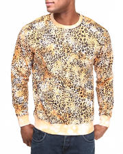 Buyers Picks - Tie Dye Leopard Print Crewneck Sweatshirt