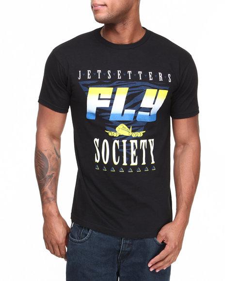Flysociety Black Jetsetters T-Shirt