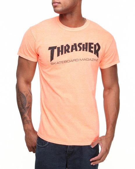 Thrasher - Men Orange Skate Mag Neon Tee