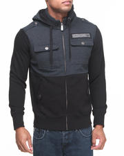 Men - Chicago Bulls Darkness Hooded Fleece Jacket