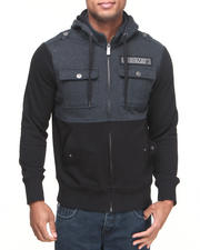 Men - Miami Heat Darkness Hooded Fleece Jacket