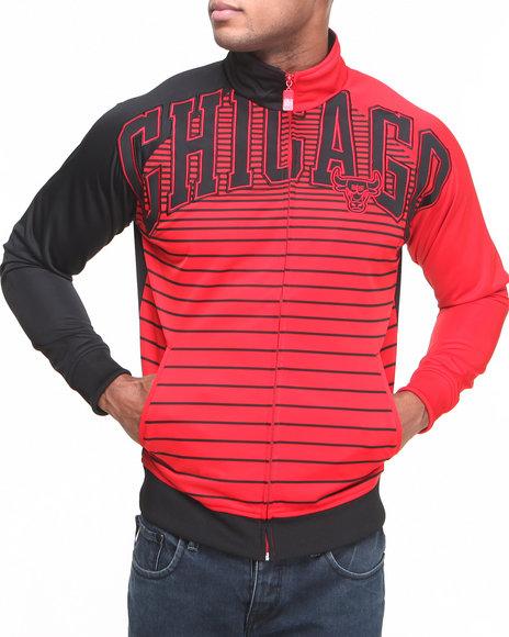 Nba, Mlb, Nfl Gear - Men Black Chicago Bulls Flatline Track Jacket