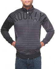 NBA, MLB, NFL Gear - Brooklyn Nets Flatline Track Jacket