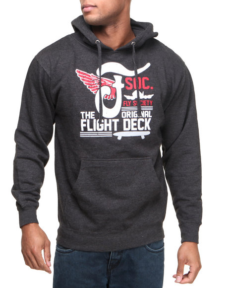 Flysociety Charcoal Flight Deck Hoodie