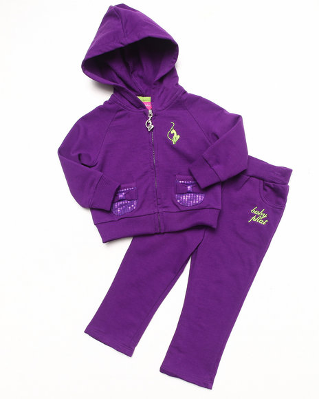 Baby Phat Girls Purple 2 Pc French Terry Set (Infant)